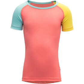 Devold Breeze T-Shirt Kinderen, coral